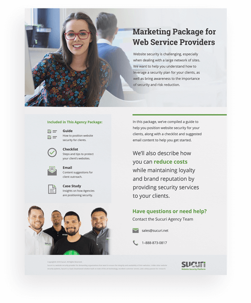 Sucuri Agency Marketing Package Boxshot
